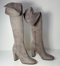 $179 Size 9 Ivanka Trump Rivera Gray Over-The-Knee Boots Heels Womens Shoes