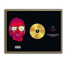 PNL Poster Le Monde Chico GOLD/PLATINIUM CD, gerahmtes Poster HipHop Rap WallArt