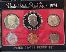 1974-  1 - United States Proof set 6 Coins with Eisenhower Dollar