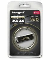 Integral 64GB Secure 360 Encrypted USB 3.0 Drive with 256 bit AES Secure Lock II