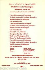 1960 Kennedy Johnson Democratic Party Convention Song (3887)