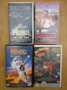 VHS FILM CULT BUNDLE Karate Kid/Spaceballs/Big Trouble/Back to the Future