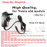 Main Charger for Old Nokia 1100, 1112, 1600, 3310, 6310 and many models, Big pin