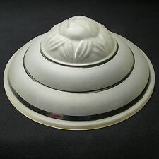 """Antique Art Deco Large 15"""" 3/4 Frosted Molded Glass Dome Shade Globe Lamp Light"""