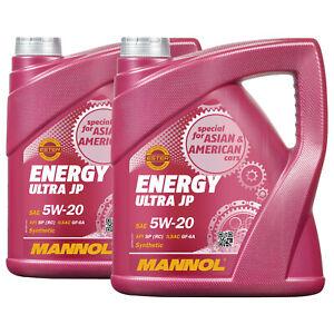 8 (2x4) Litre Mannol Énergie Ultra JP 5W-20 Api Sn / Ilsac GF-5