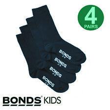 Bonds Kids School Oxford Crew Socks 4pk - Navy