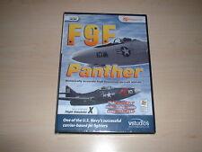 ✈️ FSX F9F PANTHER JET FIGHTER ~ FLIGHT SIMULATOR X FSX ADD-ON NEW SEALED