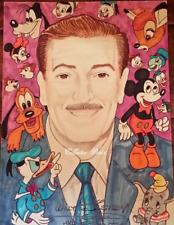 "1991 Walt Disney & Friends "" Orginal Drawing Autographed by A. Romano (Mc-1 X)"