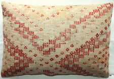 (40*60cm, 16*24cm) Textured handmade pillow cover worn faded red orange white