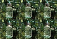 "Unique 3 1/2"" Mini Mason Jar CHRISTMAS TREE Light Globes Removable Lids Set 6"