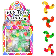 12 * Mini Spinner Assorted Colours Finger Kids Party Bag Fillers Pinata Toys
