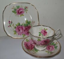 Royal Albert American Beauty Trio Teacup, Saucer & Plate Bone China England