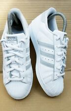 f94831a4640 Adidas Superstar White Baskets Taille 5 UK Blanc Argent Glitter Sparkle RARE