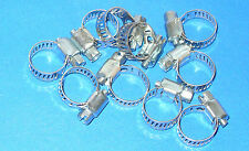 "Stainless Steel Band Hose Clamp 1/4""-5/8"" Amgauge #4 Mini Clamps 10 Pieces"