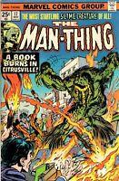 THE MAN-THING #17 Marvel Comics May 1975 Comic Book FN