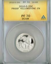 2010-S Proof Yellowstone National Park Nice Cameo 25C ANACS Authenticated PF 69