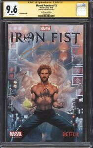 MARVEL PREMIERE #15 (NYCC Netflix Variant) CGC 9.6 SS / Signed by Finn Jones!
