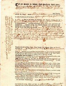 1784, Connecticut., Concord Minuteman Zaccheus Wright signed land sale