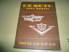 De Soto Shop Manual - Original Vintage - Models S-16 S-17 S-18