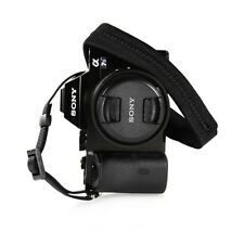 Padded Neck Shoulder Strap with BLACK Grosgrain Ties Canon Nikon Sony Pentax...