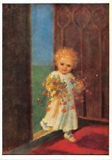 "vintage blank greeting cards  ARS SACRA Spötl ""children""2998"" 1950"