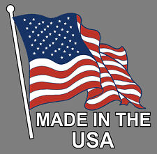 Made in The USA, Sticker Decal, American Made, American Flag, Truck car Window