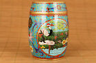 Chinese old painted enamel cloisonne crane Cricket cans