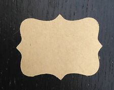 32 X Blank Kraft Brown Paper Vintage Stickers Labels