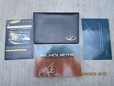 2000  00 OLDSMOBILE SILHOUETTE USER OWNER MANUAL HANDBOOK GUIDE INFORMATION BOOK