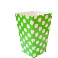 8 Green Polka Dot Treat Party Boxes/Popcorn Boxes/Kids Party Supplies/Favours