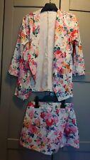 Quiz Floral Jacket and Skort Suit Size 8