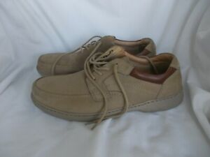 MENS CLARKS SUPERLIGHT LIGHT BROWN LEATHER LACE UP SHOES SIZE 12 G / 47