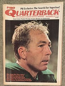 9.1971 BART STARR Pro Quarterback Magazine GREEN BAY PACKERS Larry Brown Poster