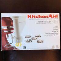 Kitchenaid Stand Pasta Press Attachment KPEXTA- NEW w 6 Interchangeable Plates