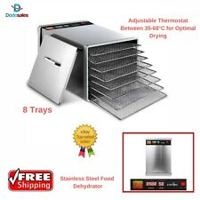 Commercial Electric Food Dehydrator Dryer Biltong Beef Jerky Dry Fruit Tray NEW