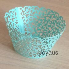 60x Tiffany Vine Lace Cupcake Wrappers Wedding Party Favour Birthday Cake Decor