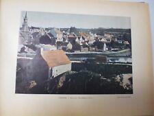 SUISSE BRETONNE/ Gravure 19° in folio couleur / HUELGOAT. VUE GENERALE DU LAC