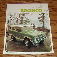 Original 1975 Ford Bronco Foldout Sales Brochure 75