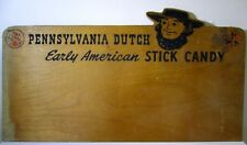 "29"" Antique Vintage Amish PA Dutch Wooden Sign American Candy Store Display"