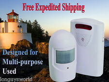 WIRELESS MOTION SENSOR STORE RETAIL OFFICE BUSINESS ENTRY DOOR ALERT ALARM BELL