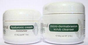 Exfoliating microdermabrasion problem skin 2oz + moisturizing hyaluronic acid 1oz