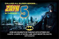 Buy batman birthday cards and stationery for children ebay personalised birthday invitations superhero batman x 5 m4hsunfo