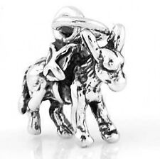 STERLING SILVER DONKEY 3D CHARM PENDANT