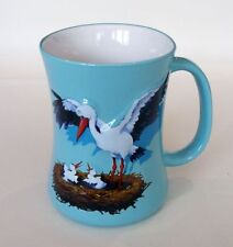 "Mug en céramique souvenir d'Alsace ""La Cigogne"" bleu"