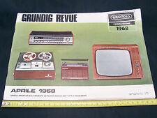 DEPLIANT ORIGINALE PROMO 1968 GRUNDIG CAR AUDIO TV HIFI AUTORADIO TRANSISTOR