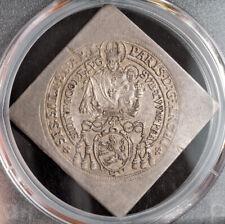 1640, Salzburg, Count Paris v. Lodron. Silver Klippe 1/4 Thaler Coin. PCGS AU58!