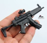 "MP5 MODO Submachine Weapon Gun+Stent F1/6 Scale12"" Action Figure 1:6 Model Toy"
