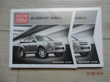 Dossier de presse / catalogue GREAT WALL mondial 2006