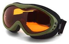 Adult Antifog Ski Goggles Green / Orange Lens All Conditions Bond-GRN