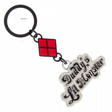 LICENSED HARLEY QUINN ~SUICIDE SQUAD~ DADDY'S LIL MONSTER KEYCHAIN KEY RING